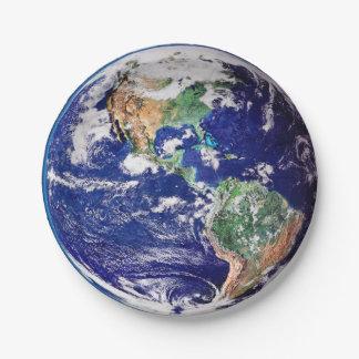 Prato De Papel Terra do planeta