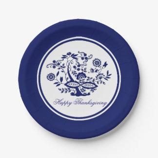 Prato De Papel Teste padrão azul da cebola seu cumprimento ou