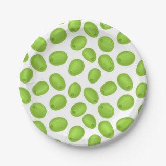 Prato De Papel Teste padrão com azeitonas verdes