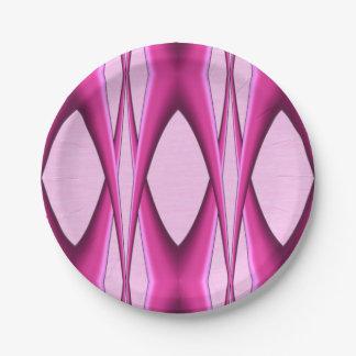 Prato De Papel Teste padrão cor-de-rosa