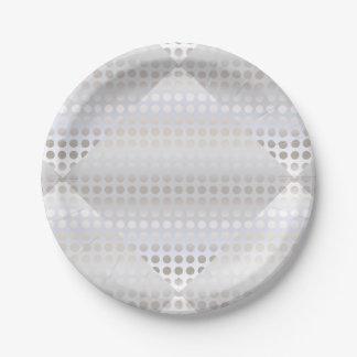 Prato De Papel Teste padrão de bolinhas de prata do falso à moda