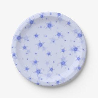 Prato De Papel Teste padrão de estrelas