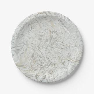 Prato De Papel Teste padrão de superfície de mármore cinzento