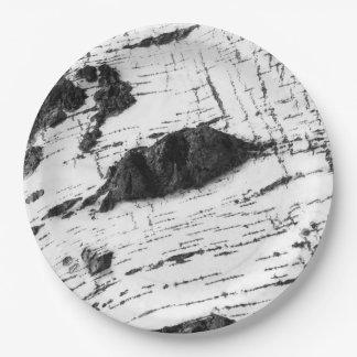 Prato De Papel Teste padrão do latido de vidoeiro