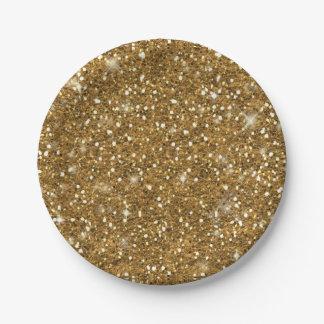 Prato De Papel Teste padrão ID144 do brilho do ouro