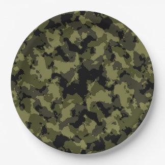 Prato De Papel Teste padrão militar do estilo da camuflagem