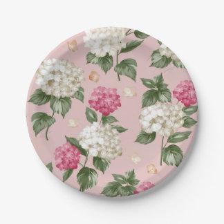Prato De Papel Teste padrão sem emenda floral do Hydrangea