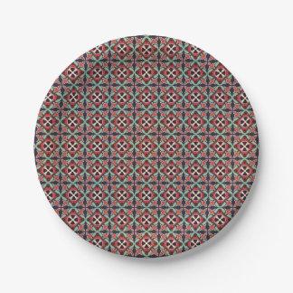 Prato De Papel Teste padrão sem emenda retro geométrico abstrato
