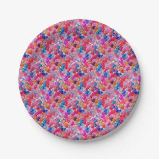 Prato De Papel textura colorida das bolas da geléia