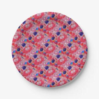 Prato De Papel textura das bolas da água