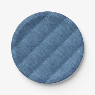 Prato De Papel Textura de calças de ganga