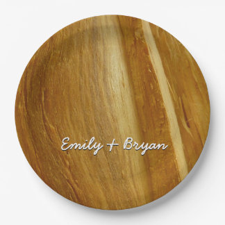 Prato De Papel Textura de madeira do falso da madeira de pinho II