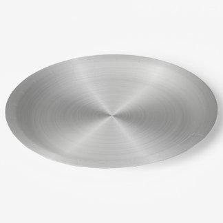 Prato De Papel Textura lustrada circular brilhante do metal