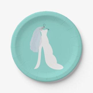 Prato De Papel Tiffany aqui vem as placas do partido da noiva