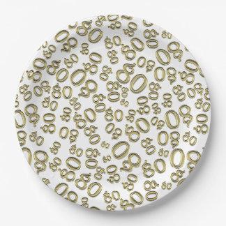 Prato De Papel Tipografia do ouro alguns partido/celebração do