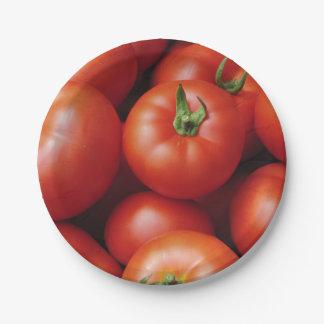 Prato De Papel Tomates maduros - vermelho brilhante, fresco