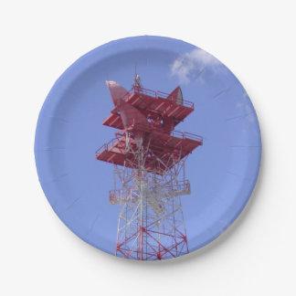 Prato De Papel Torre das telecomunicações da microonda