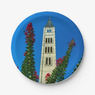 Prato De Papel Torre de Luke do santo em Mostar, em Bósnia e em