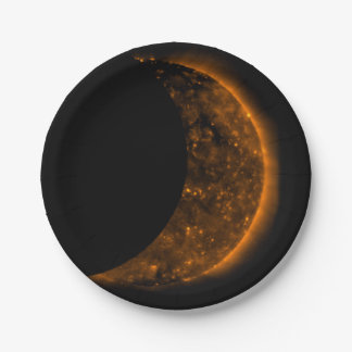 Prato De Papel Trânsito do eclipse solar
