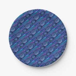 Prato De Papel Três bolas de vidro na cor