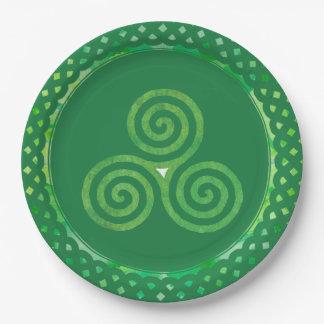 Prato De Papel Trevo celta verde