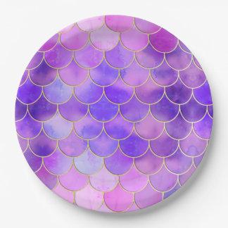 Prato De Papel Ultravioleta & teste padrão da escala da sereia do