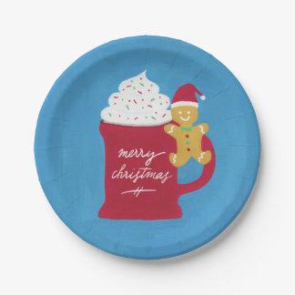 Prato De Papel Um copo do Feliz Natal