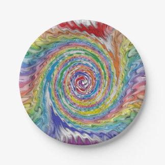 Prato De Papel Um Splatter colorido