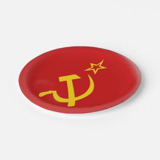 Prato De Papel União Soviética - bandeira de URSS