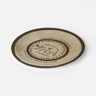 Prato De Papel Universidade do selo do Mammoth de Beringia