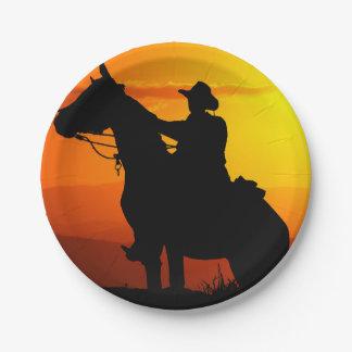 Prato De Papel Vaqueiro-Vaqueiro-luz do sol-ocidental-país do por