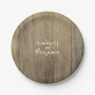 Prato De Papel Velho de madeira da textura do celeiro rústico