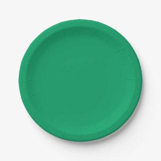 Prato De Papel Verde do trevo