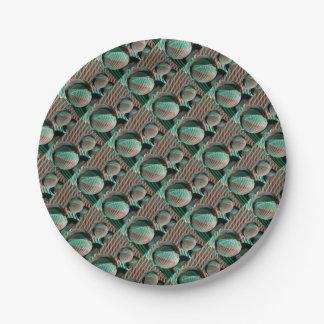 Prato De Papel Verde e vermelho na bola de cristal
