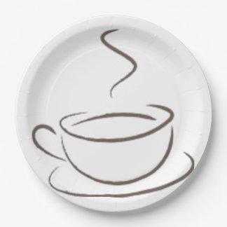 Prato De Papel Viciado ao café