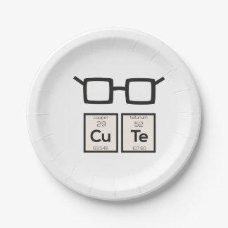 Prato De Papel Vidros bonitos Zwp34 do nerd do elemento químico