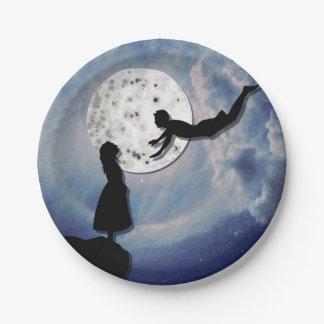 Prato De Papel voe-me ao universo do corte do papel da lua