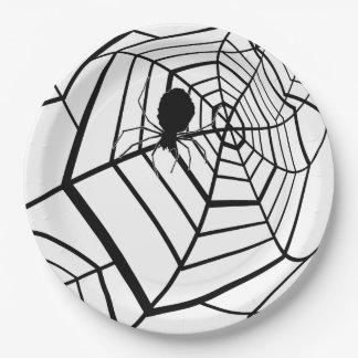 Prato De Papel Web de aranha - o Dia das Bruxas - placa de papel