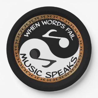 Prato De Papel Yin Yang com palavras da música