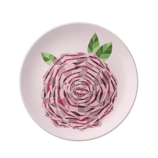 """Prato de Porcelana 8.5"""" Vitral Rosa"""