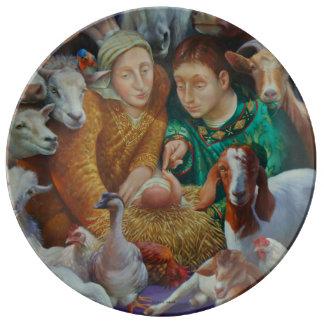 Prato De Porcelana A natividade por Rosemarie Adcock