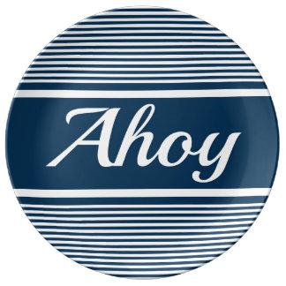 Prato De Porcelana Ahoy