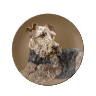 Prato De Porcelana Airedale Terrier