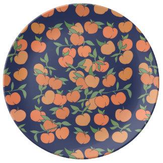Prato De Porcelana Apenas pêssegos Peachy
