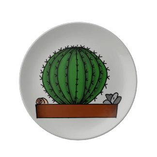 Prato De Porcelana Arte Potted Home do Doodle das plantas