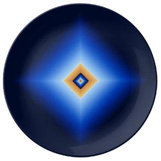 Prato De Porcelana Azul e diamante de Tan