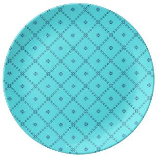 Prato De Porcelana Azul gráfico do design do azulejo