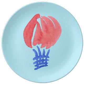 """Prato De Porcelana Balão de ar 10,75"""" placa decorativa da porcelana"""
