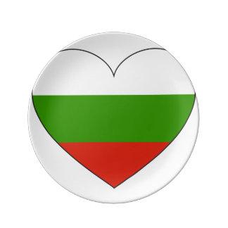 Prato De Porcelana Bandeira de Bulgária simples