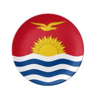 Prato De Porcelana Bandeira de Kiribati